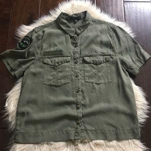 Sanctuary Olive Green Explorer Shirt